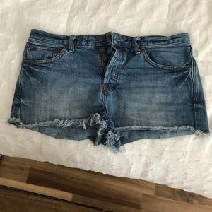 Free people rock denim uptown shorts